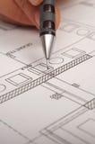 Pencil show plans Stock Photography