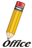 Pencil and signs Royalty Free Stock Photo