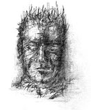 Pencil sketch. Man portrait hand drawn sketch Stock Photography