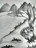 A pencil sketch Illustration. Sketch Drawing. royalty free stock photos