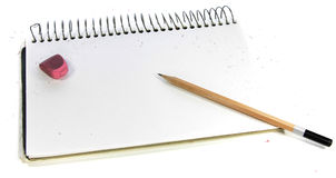 Pencil & sketchbook Royalty Free Stock Photo