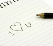 Pencil and small notebook Royalty Free Stock Photography