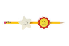 Pencil with Smileys Royalty Free Stock Image