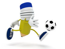 Pencil Soccer Player Royalty Free Stock Photography