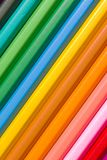 Pencil spectrum. Spectrum of round colored wood pencils Royalty Free Stock Image