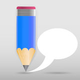 Pencil with speech bubble Vector illustration Stock Photography