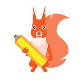 Pencil squirrel Royalty Free Stock Images