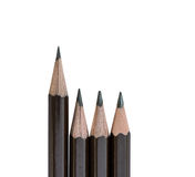 Pencil standing out from row Stock Images