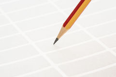 Pencil and sticky labels Stock Photos