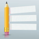 Pencil Striped Paper Stickers Royalty Free Stock Photo