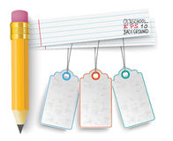 Pencil Striped Papers Price Stickers Royalty Free Stock Photos