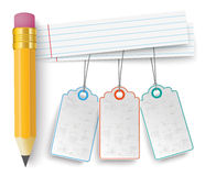 Pencil Striped Papers Price Stickers Royalty Free Stock Images