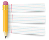Pencil Striped Papers Royalty Free Stock Photos