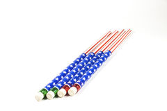 Pencil stripes American flag Stock Image