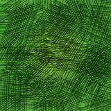 Pencil strokes on the green background. Grid and random strokes Royalty Free Stock Image