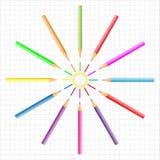 Pencil Sun Stock Images