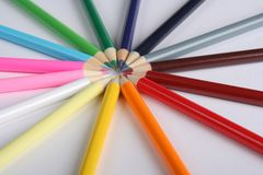 Pencil sun Stock Photography