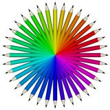 Pencil swatch royalty free stock images