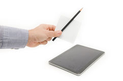 Pencil or tablet Stock Images
