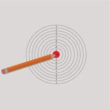 Pencil and target for shooting.  Stock Photo