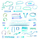 Pencil texture elements Royalty Free Stock Image