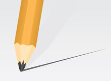 Pencil Tip. Pencil close up making a straight line Royalty Free Stock Images