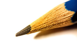 Pencil Tip. Against White Backdrop royalty free stock photos