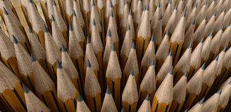 Pencil tips. Composition of pencil tips pointing upwards vector illustration