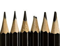 Pencil tips, one broken Stock Photography