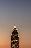 The pencil tower(Messeturm) at sunset Royalty Free Stock Photo