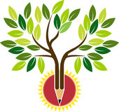 Pencil tree. Illustration art of a pencil tree with isolated background Stock Photography