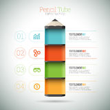 Pencil Tube Infographic Royalty Free Stock Image