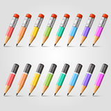 Pencil vector background collection Royalty Free Stock Photo