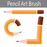 Pencil vector icon. Illustrator art brush Stock Photo