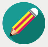 Pencil vector icon, Stationery, Flat Vector illustration. Pencil vector icon, Flat Vector illustration Royalty Free Illustration