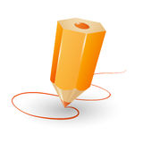 Pencil vector illustration Stock Photography