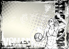 Pencil volleyball grungy background 2 Stock Images