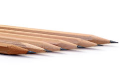 Pencil on a white background. Stock Photo