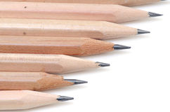 Pencil on a white background. Stock Photos