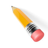 Pencil on white background Royalty Free Stock Photography
