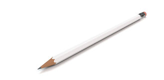Pencil on white Stock Image