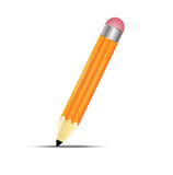 Pencil  on a white background Royalty Free Stock Photography