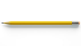 Pencil on white background Royalty Free Stock Image
