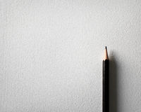 Pencil and white paper background Royalty Free Stock Photography