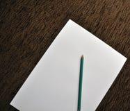 Pencil on white paper Stock Photo