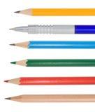 Pencil on white royalty free stock photos