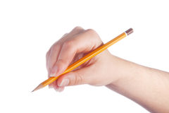 Pencil in woman hand Stock Photography