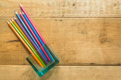 Pencil on wood Royalty Free Stock Photography