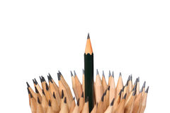 pencil wooden art  on white background concept idea. Stock Photography