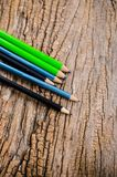 Pencil on wooden board Stock Images